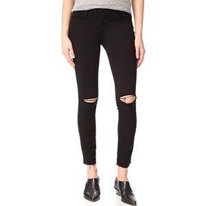 Frame Black Le High Skinny ripped jeans sz 28